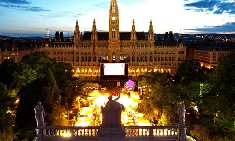 Vienna during the Rathausplatz film festival, Vienna