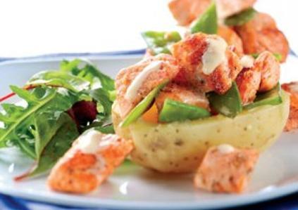 Cajun-salmon-jacket-potatoes